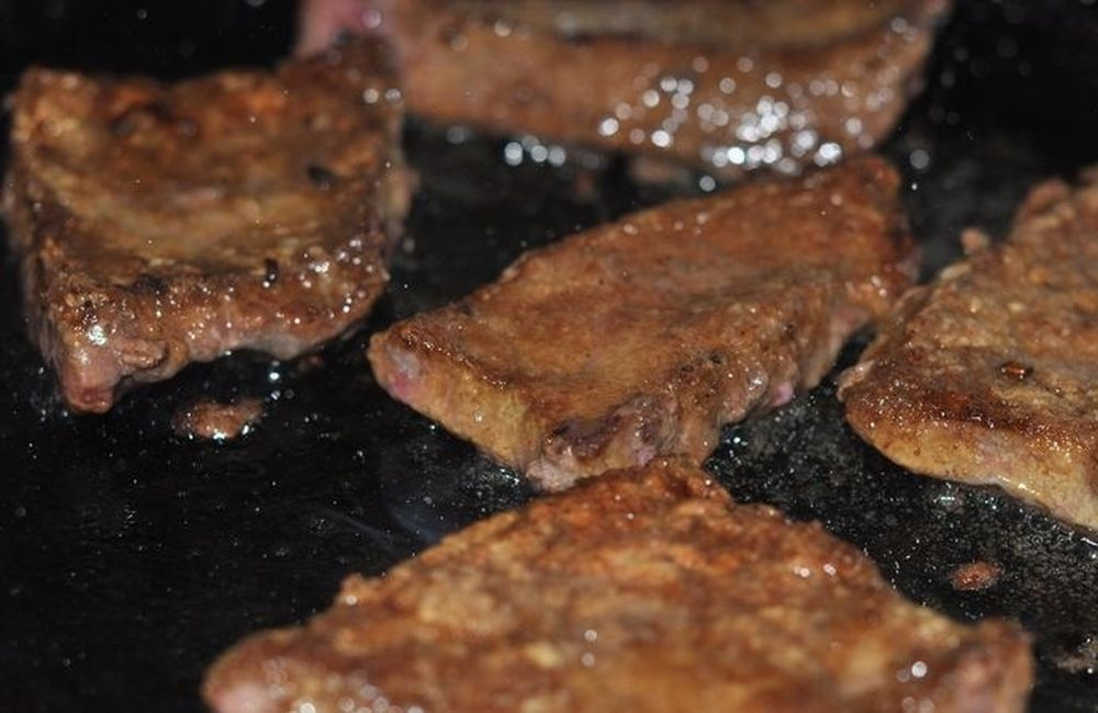 рецепт жарки говяжьей печени