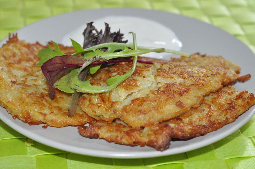 Драники из картофеля с чесноком рецепт