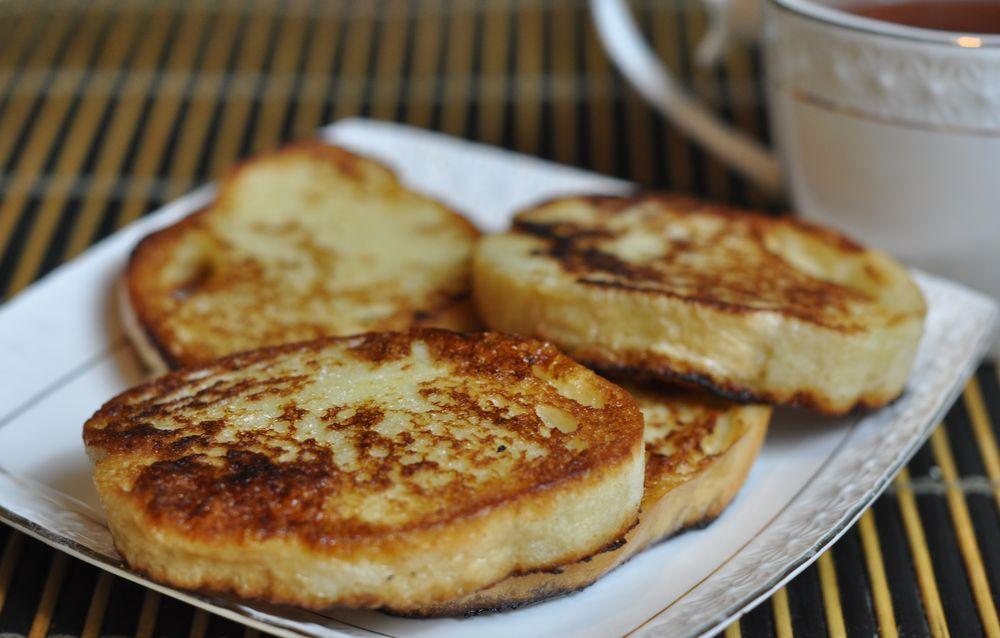 Гренки с молоком и яйцом рецепт