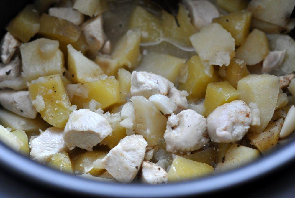 картошка с куриным филе в мультиварке рецепты с фото