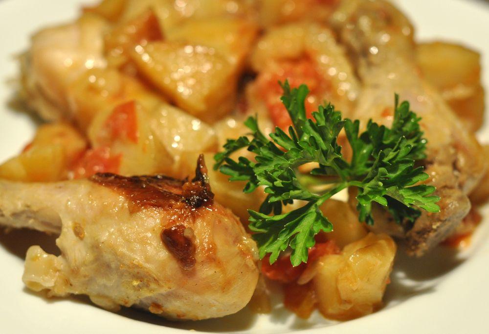 картошка в фольге с курицей в мультиварке рецепты