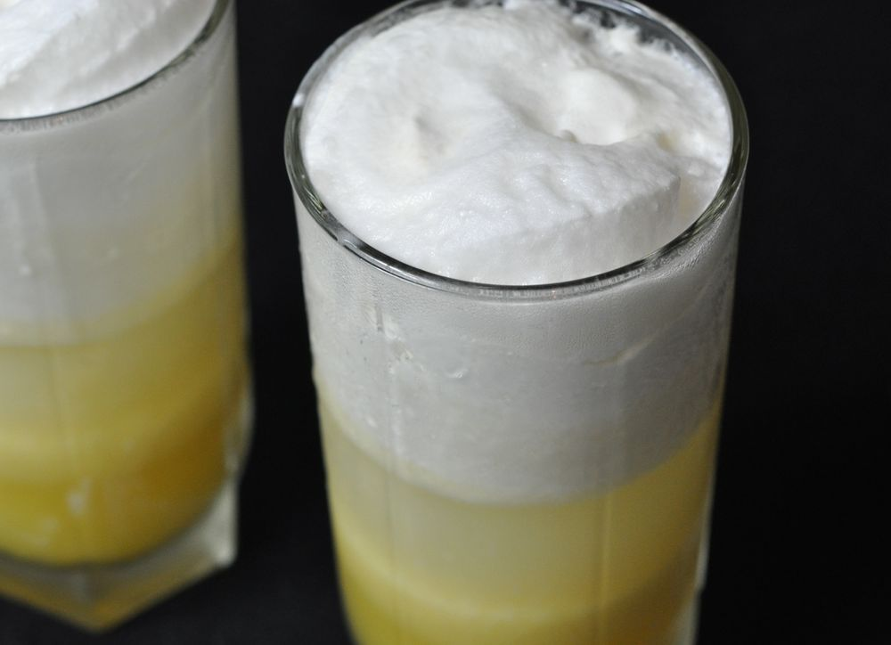 рецепт коктейля сок и мороженое