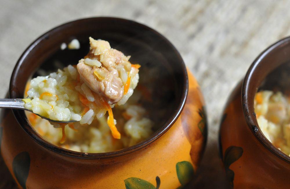 плов в горшочках в духовке с курицей рецепты с фото