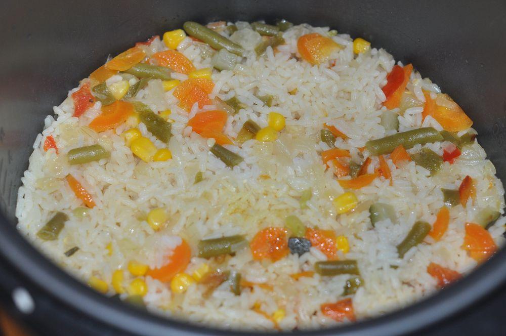 Рис с овощами и курицей в мультиварке рецепты с фото