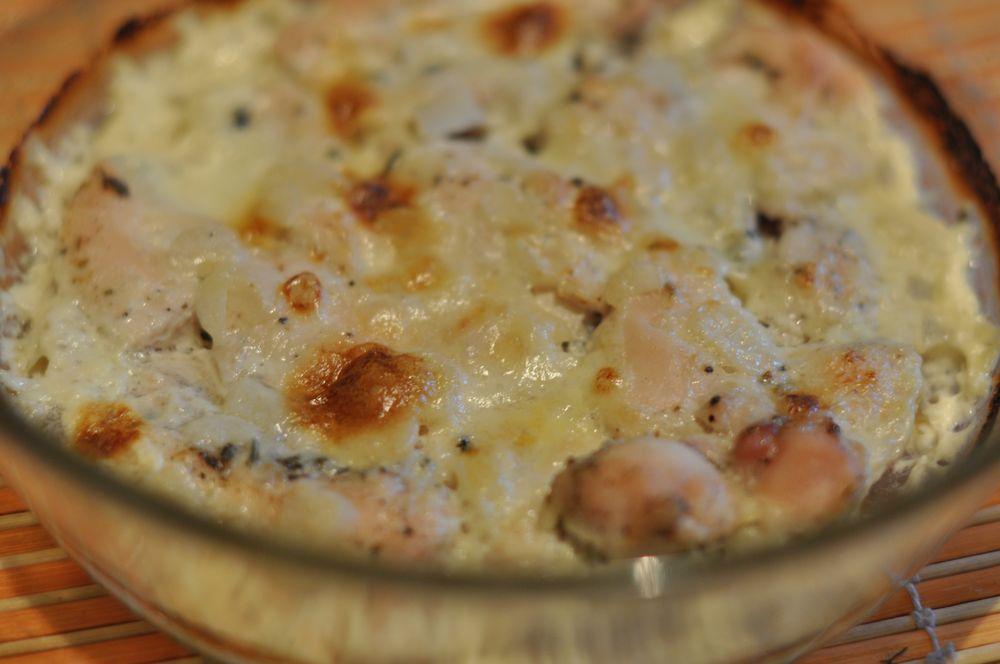 курица с картошкой в духовке со сливками рецепт