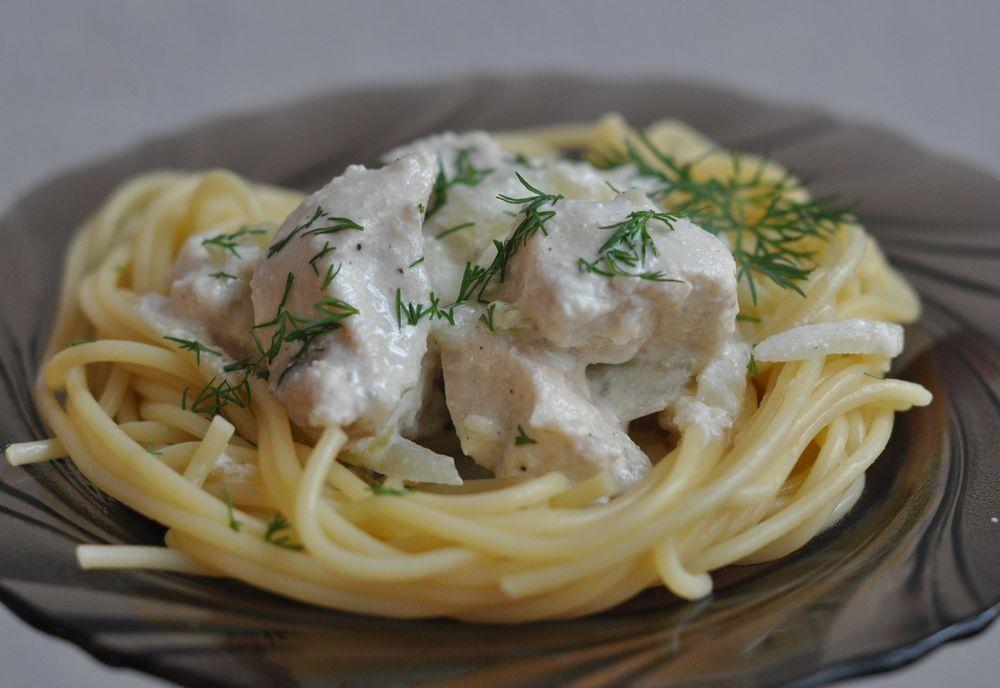 курица домашняя в сметанном соусе рецепт