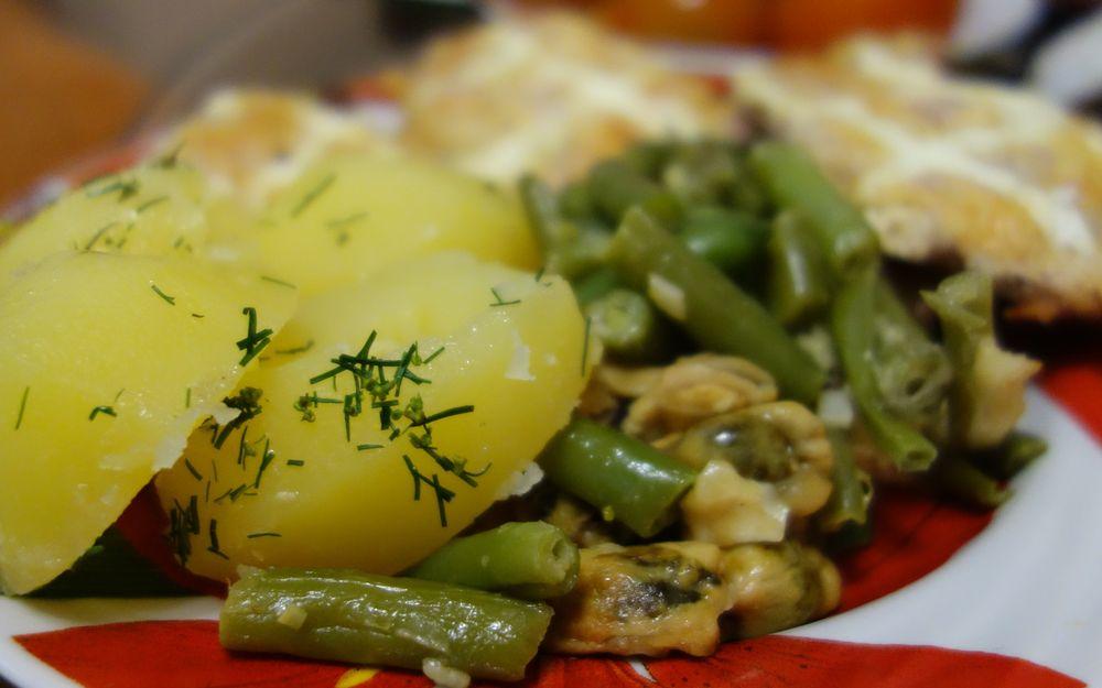 Итальянское блюдо со стручковой фасолью