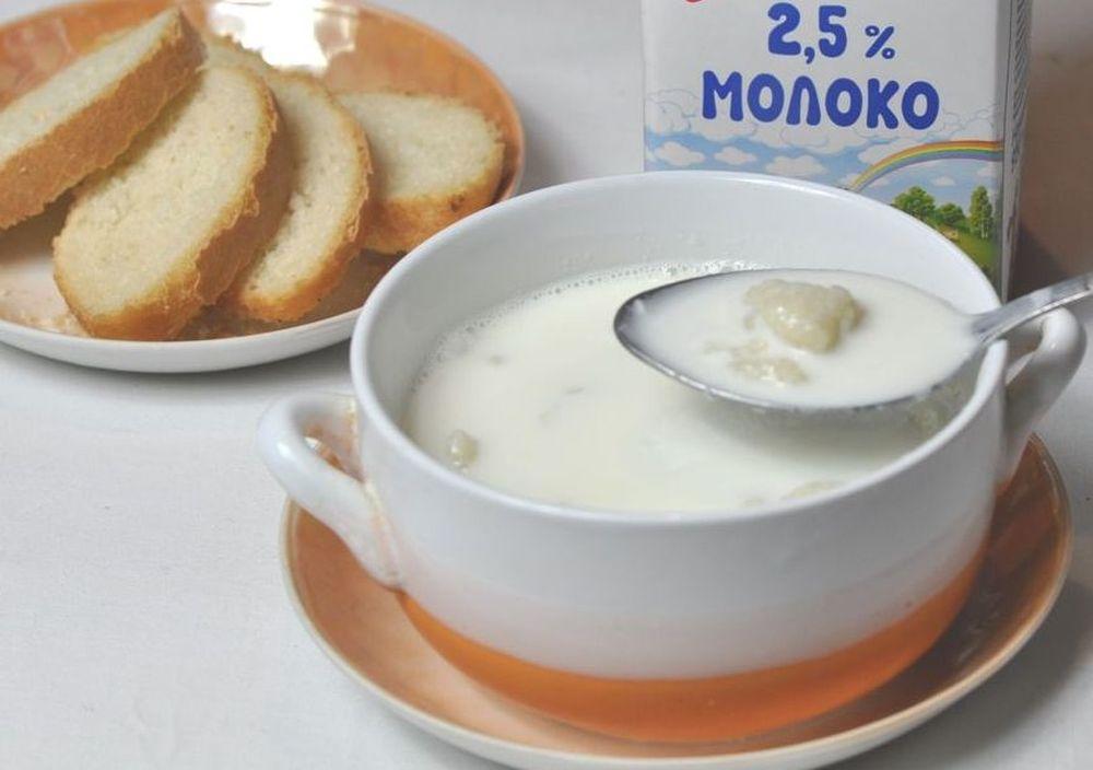 молочный суп с клецками рецепт с фото