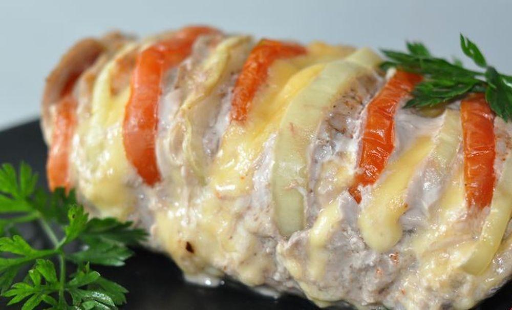 Мясо гармошка из говядины в духовке