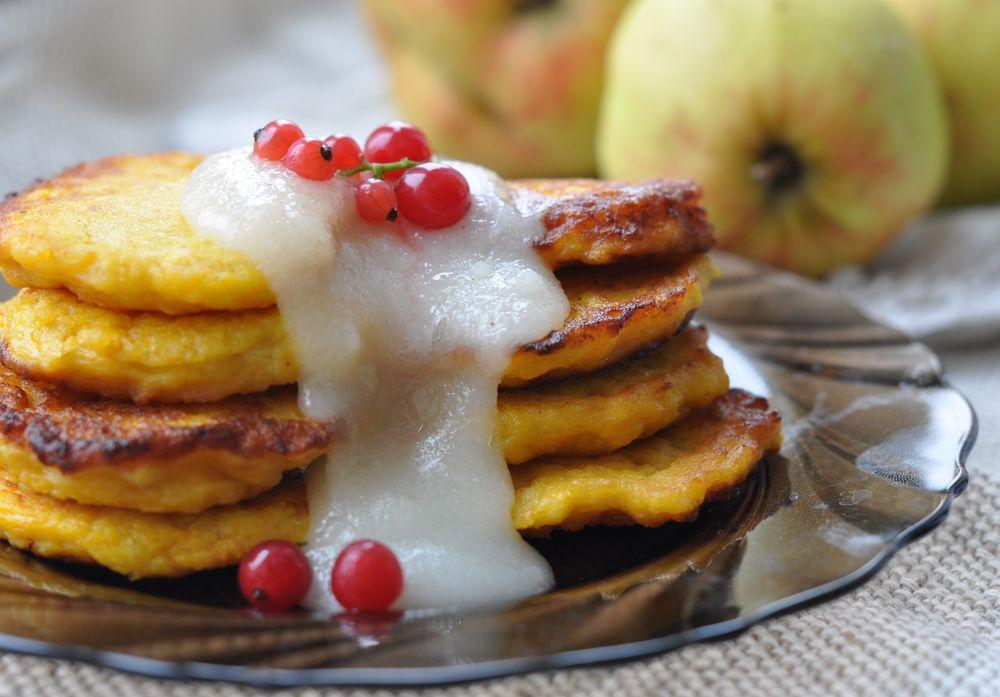 Тыквенные оладьи с яблоками рецепт с фото