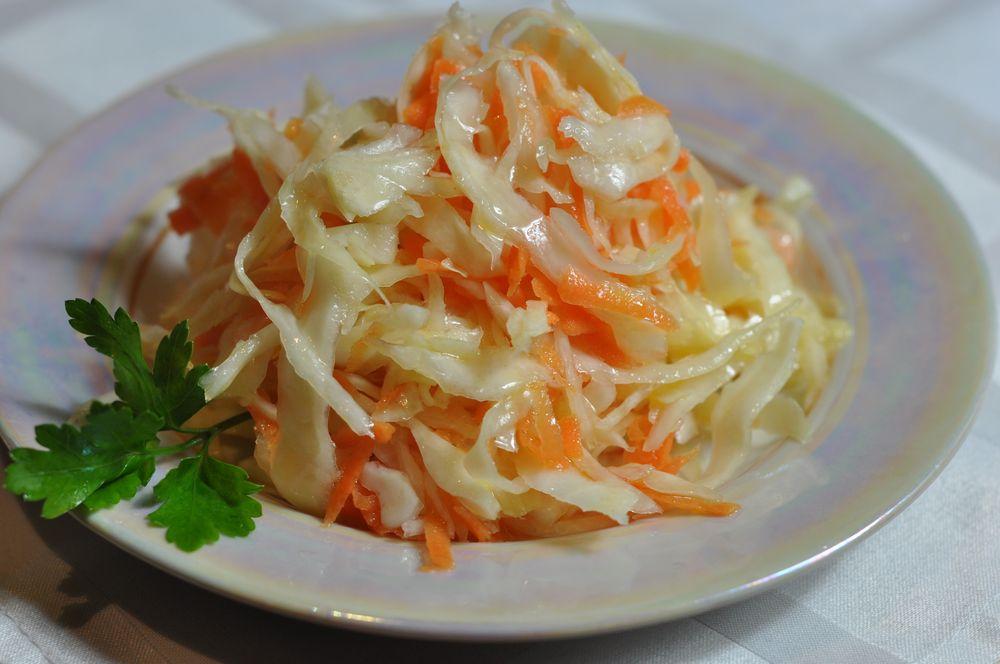 Рецепты салатной острой капусты