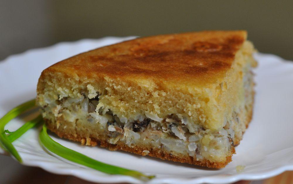 пирог с консервированной горбушей и картошкой рецепт с фото