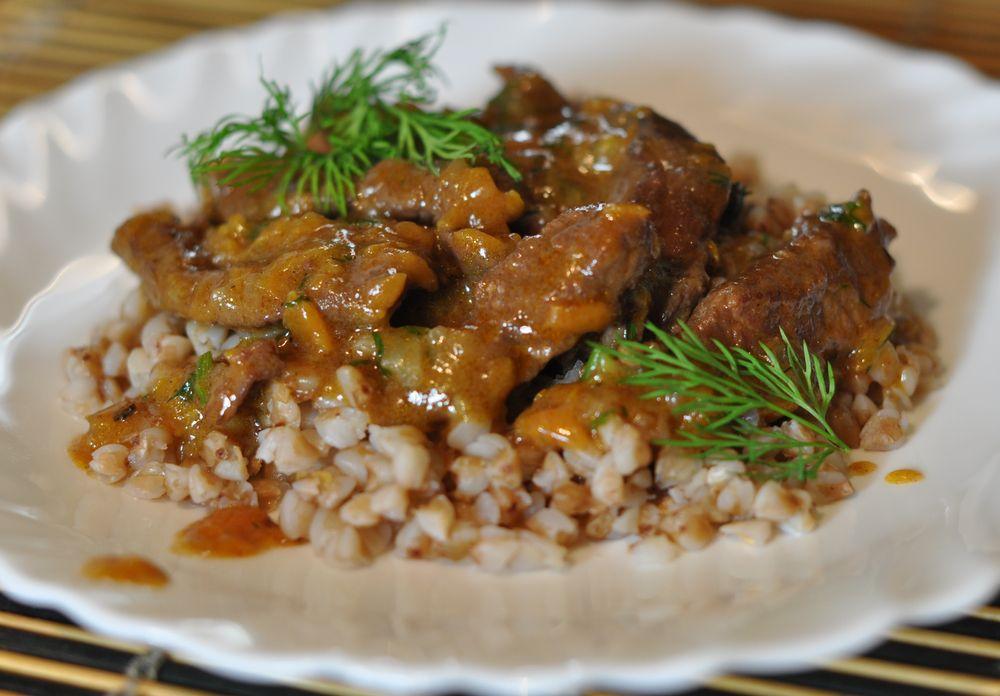 Бифстроганы из говядины с грибами рецепт пошагово