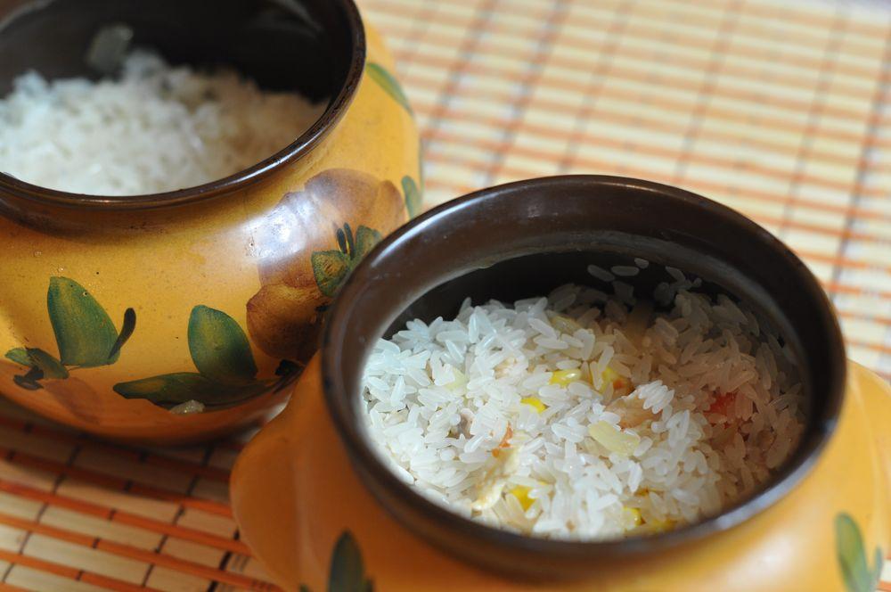 в горшочках овощами курицей с рис с