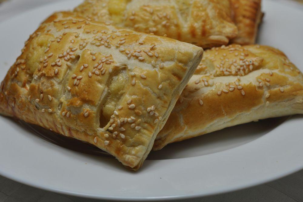 слойка с сыром и курицей рецепт с фото
