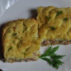 Картофельное суфле с мясом