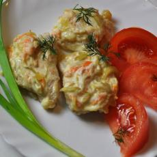 Пангасиус в сметане с овощами