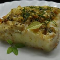 Пудинг из рыбы с картофелем