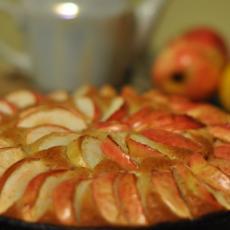 Коврижка с яблоками