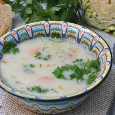 Суп с плавленым сырком и овощами