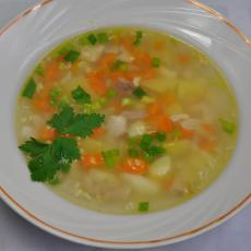 Суп рисовый на курином бульоне