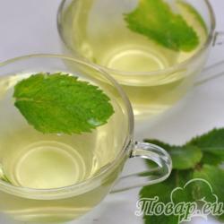 Чай с мятой: готовый напиток