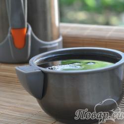 Чёрный чай в термосе
