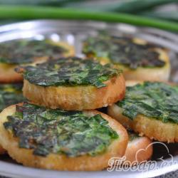 Горячие бутерброды с зелёным луком