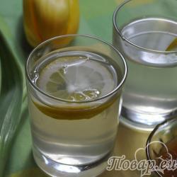 Имбирный напиток с лимоном и мёдом