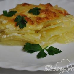 Картофель Дофине в духовке