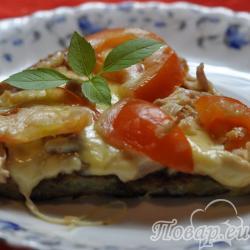 Картофельная пицца без теста