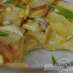 Картошка с чесноком в духовке