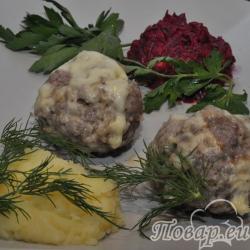 Домашние котлеты на пару в мультиварке с картофелем