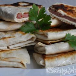 Ленивые пирожки из лаваша