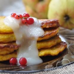 Оладьи из тыквы и яблок