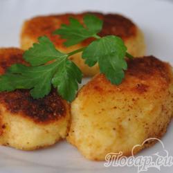 Пирожки из картофельного пюре с начинкой