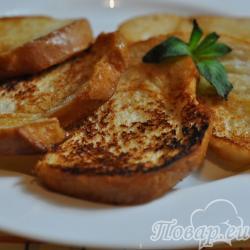 Постные гренки из белого хлеба