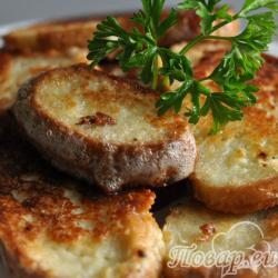 Сырные гренки