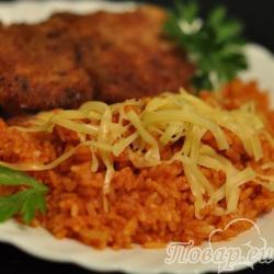 Рис с томатом и сыром