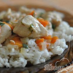 Как приготовить правильно рис: рис с подливой
