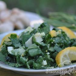 Салат из черемши с огурцом