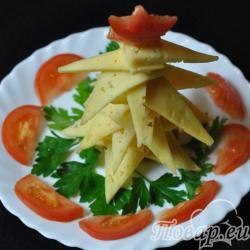 Закуска из сыра Новогодняя