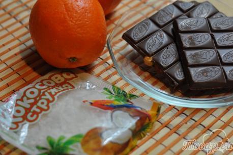 Апельсиновые дольки в шоколаде: продукты