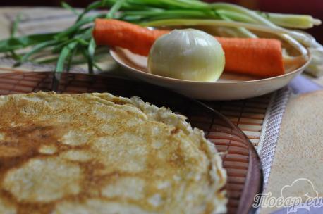 Блины с печенью: продукты