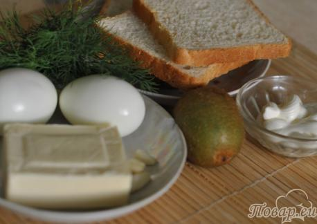 Бутерброды с киви: продукты