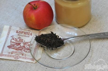 Чай с яблоками и корицей: продукты