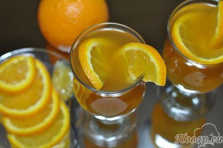 Чёрный чай с апельсином