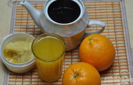 Чёрный чай с апельсином: продукты