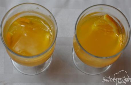 Чёрный чай с апельсином: сок