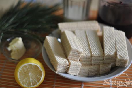 продукты для приготовления десерта из вафель без выпечки